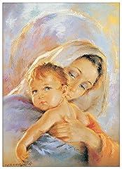 Idea Regalo - Artopweb Pannelli Decorativi Madonna con Bambino Quadro, Legno, Multicolore, 50x1.8x70 cm