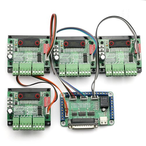 SainSmart 4 Axis TB6560 CNC Stepper Motor Driver Controller Board Kit,57 two-phase,3A (Cnc-motor-kit)