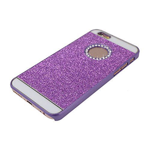 2 PCS iPhone 6 Glitzer Case, iPhone 6S Glitzer Case, Moon mood® Ultra Slim Thin 3D Bling Strass Hülle Hart Bling Gliter Handytasche Kristall Schutzhülle für Apple iPhone 6/6S Hart PC Schutz Etui Cover 2 PCS 8