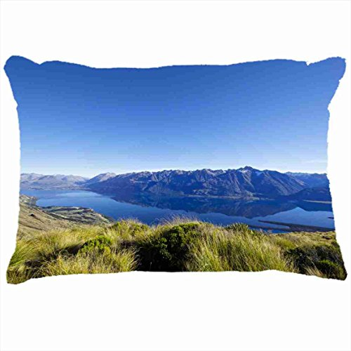 Custom Pillowcases Diy Design Nature Lake Grass Mountains HD Personalized Home Decor Pillow Cover Case Customized Size - Lake Grass
