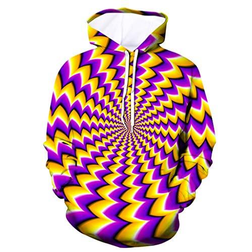 Jkhhi Kapuzenpulli Hoodie Pullover Sweatshirt 3D Print Dot Muster Herren Langarm Sweatshirt Sweatjacke Kapuzensweater Streetwear Freizeit Coat Tops Kapuzenshirt - Casual Dots-muster