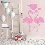 Flamingo y corazón calcomanía Ins Estilo Ventana del Coche Etiqueta Home Dormitorio Sala de Estar decoración del Espejo Elementos Populares42x54 cm
