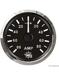 Ampèremètre avec shunt 80 A noir/polie