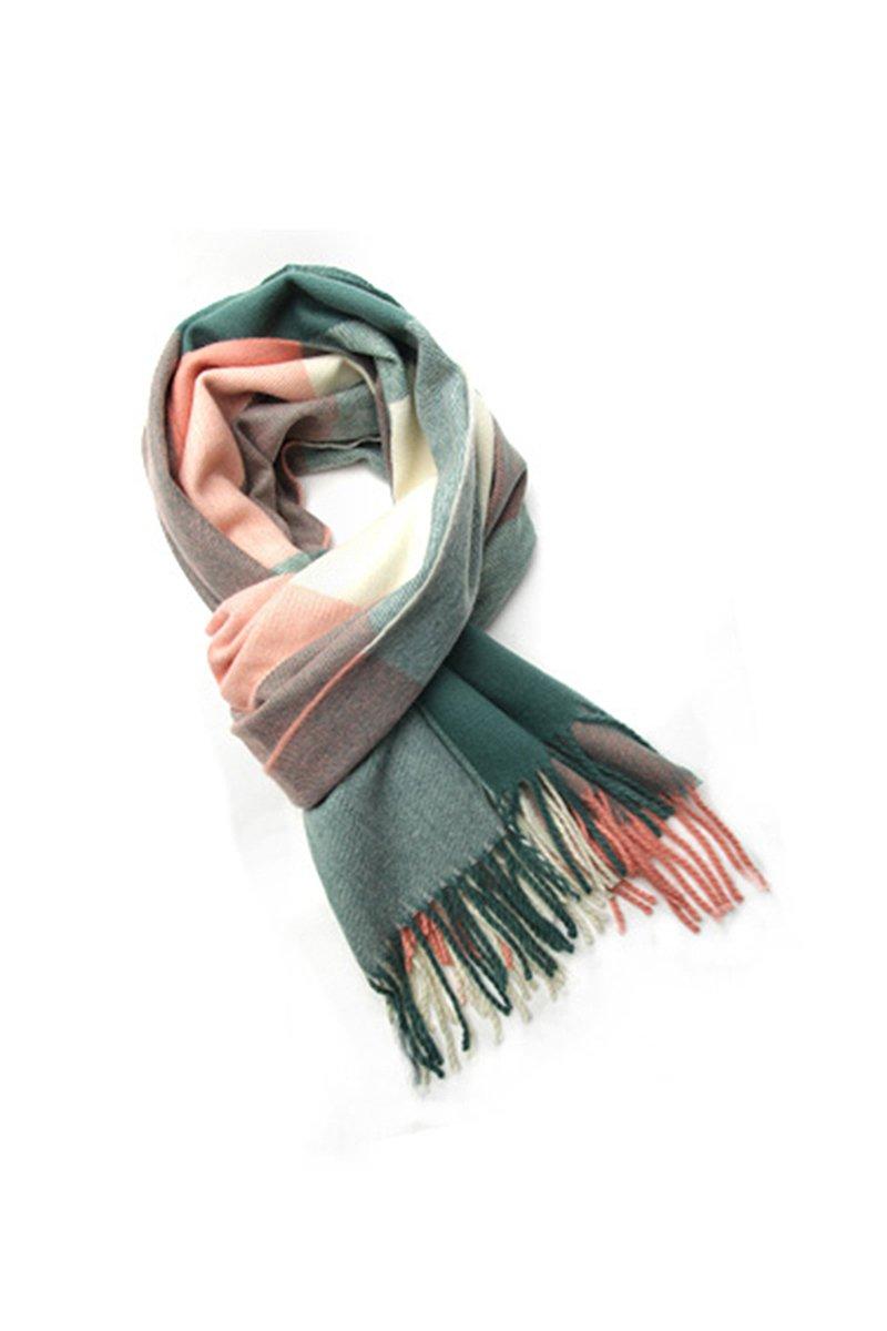 TOOGOO(R) Moda Donna 1 pz inverno caldo sciarpa dello scialle miscela del cotone lunghe morbide scia