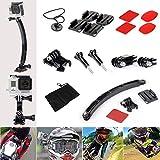 Kit d'Accessoires de Casque Moto Sport de Plein Air pour Caméra Sportive GoPro HERO 4 3+ 3 2 1 SJ4000 SJ5000 SJ6000