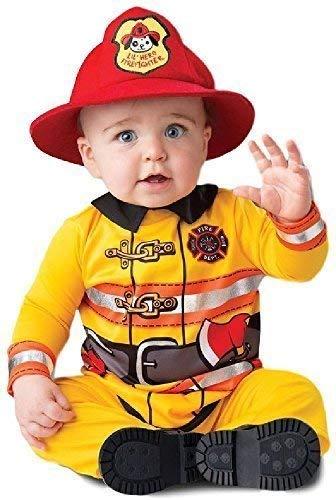 Fancy Me Baby Jungen Mädchen Feuer Kämpfer Rettungsdienste Halloween Karneval Welttag des Buches Woche Verkleidung Kostüm Kleidung 6-24 Monate - Rot, 12-18 Months