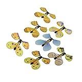 Merssavo 7 pieces Jouet Magie Papillon de voler en papier et plastique Cadeau pour Enfant Couleur Random