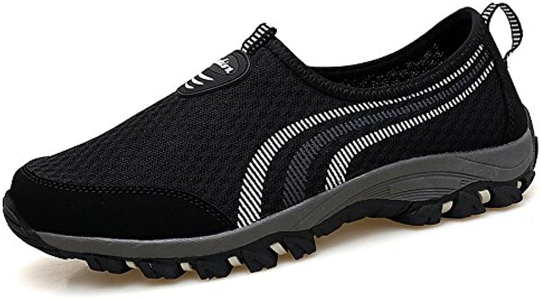 Hasag Zapatillas de Malla de Verano Zapatos de Madre de la Madre Zapatos de Tela Transpirable, 39, A1 Negro