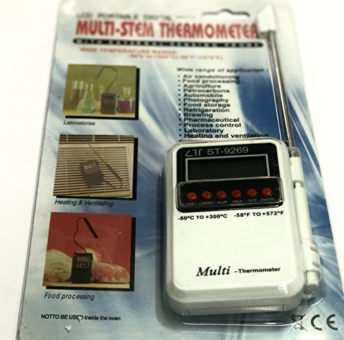 Tools Centre Multi Stem Thermometer with External Sensing Probe -
