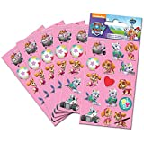 Paper Projects 9107076 Paw Patrol Pink Party Size Sticker-Set, 6 Bögen