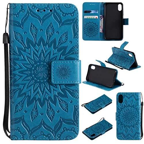 HANSHUO Telefon-Kasten Sonnenblume Geprägte Flip Leder Anzug Tasche Telefon Fall für iPhone XR XS MAX 10 Abdeckung für iPhone X 7 8 6 6 S Plus 5 5S SE - Flip-telefon Iphone Fall