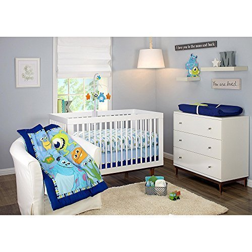 Disney Baby Monsters Inc 3 Piece Crib Bedding Set by (Baby Inc Disney Monsters)