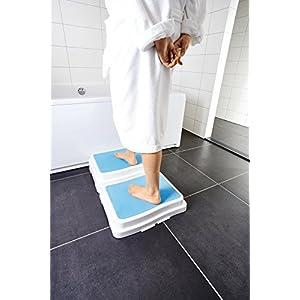 Premium Badewannen / Dusche Einstieg Hilfe Treppe Stufe Senioren – stapelbar – Anti Rutsch Beschichtung