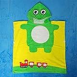 WEILIVE Gemütlich Kinder Cartoon Frosch Bademantel Baumwolle Umhang Badetuch Badetuch Handtuch-Kleid