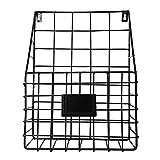 Metall vägg monterad bokhylla/enkel vardagsrum tidningsställ/tidningsställ/förvaringsbehållare displayställ