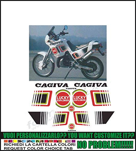 Kit adesivi decal stikers cagiva n 90 125 lucky explorer (ability to customize the colors)