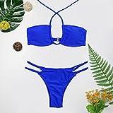 XMZJWDA Brazilian Bikini 2018 High Cut Tanga Badeanzug Schwarz Bikinis Set Push Up Badeanzug Bademode Badeanzug Bademoden, 2932 Nr. 3, S