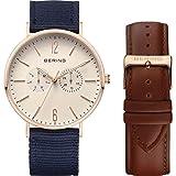 Bering-Classic-Collection-14240-564-Reloj-de-Pulsera-para-hombres-Con-pulsera-adicional