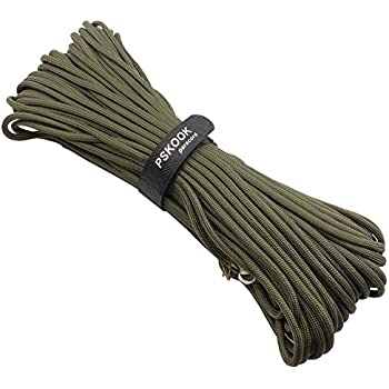 PSKOOK 100m Paracord Lanyard Parachute Cord-7 triple strands Outdoor Camping Tent Rope Weaving