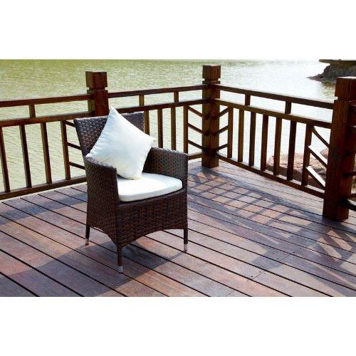 OUTFLEXX 2er-Set Sessel aus hochwertigem Polyrattan, braun marmoriert, ca. 60x60,5x86,5 cm, inkl....
