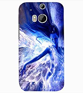 ColourCraft Angel Design Back Case Cover for HTC ONE M8