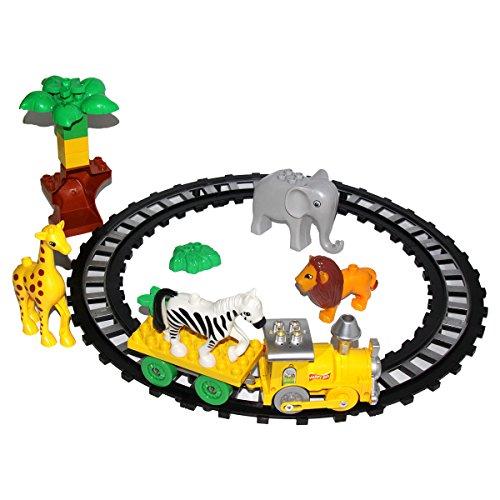 Block Set Spielzeug für Kinder Elektrische Züge mit Tiere Bäume (Halloween übungen Zu Drucken)