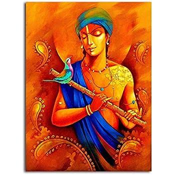 Tamatina Canvas Paintings - Lord Krishna - Krishna Paintings for