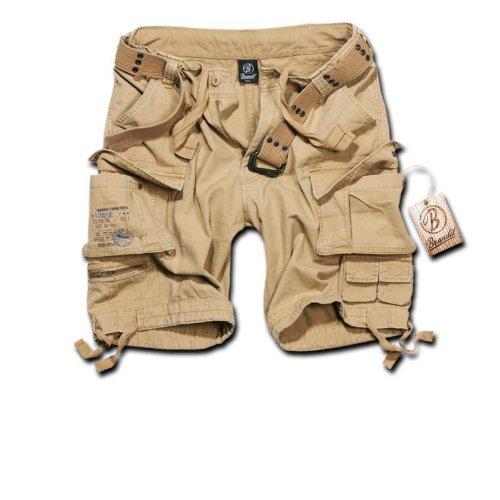Brandit Savage Vintage Shorts - Pantaloncini vintage, colore: darkcamo Beige S