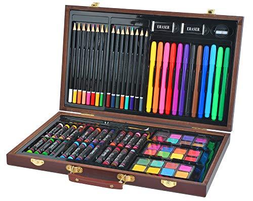 Iso Trade Malset Koffer Mega-Set 81 Einzelteile im Koffer Künstler Maler Kreative Kunst #6072