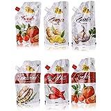 La Faire Tomato Paste, Tomato Puree, Red Chilli Puree, Tamarind Puree, Garlic Paste And Ginger Paste, 3 Kg (Combo...