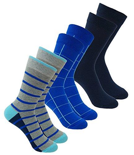 EveryKid Ewers 3er Pack Jungensocken Sparpack Socken Markensocken Sommersocken Strümpfe kariert gestreift uni Kinder (EW-201083-S18-JU0-002-31/34) in Aqua-Tinte, Größe 31/34 inkl Fashionguide -