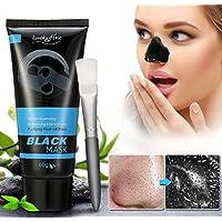 Luckyfine Mascarilla Carbon Activo, Mascarilla exfoliante limpiadora para Puntos Negros y Acné, Black mask peel off, Máscara Facial de Barro Negro, Mascara limpieza facial profunda