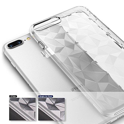 Apple iPhone 7 Plus / iPhone 8 Plus Hülle Ringke [AIR PRISM GLITTER] Flexibler Funkeln 3D Design, ultra chic dünn schlang Muster Kompletthülle texturiert schützend TPU Fall geschützt Cover - Funkeln K Rosengold