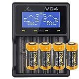 Schnell-Ladegerät und 4 Stück 3.7V 760mAh RCR123A Li-Ion wiederaufladbare Batterien für Netgear Arlo drahtlose HD Überwachungska