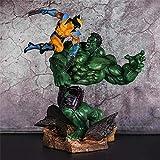 Hulk Vs. Wolverine Avengers Figuras De Acción Muñeca Juguetes Escena...