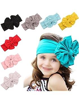 TINNINA 8 pz Neonata sveglia Bowknot cotone turbante fascia Hairband Headwear