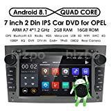 Doppeltes Lärmauto-Stereoradio Android 8.1 7-Zoll-Touchscreen in Dash GPS-Navigationsunterstützung WiFi Bluetooth-Spiegelverbindung SWC OBD für Opel Antara Vectra Crosa Vivaro Zafira Meriva