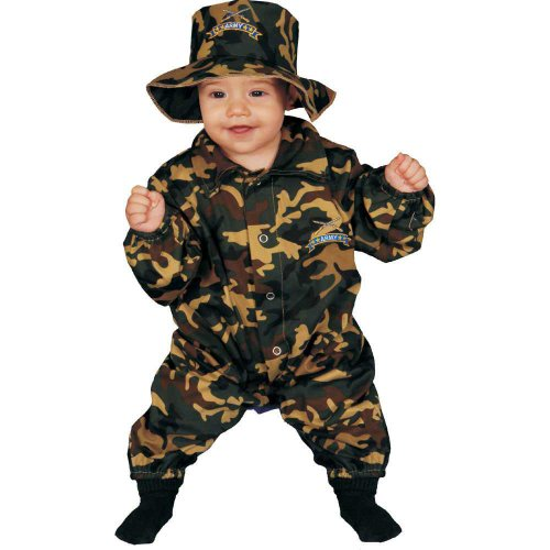 Baby Up Kostüm Dress - Dress Up America Niedliches Säugling Military Officer Kostüm