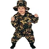 Dress Up America - Disfraz de militar para bebés, talla 0-9 meses (296-0-9)