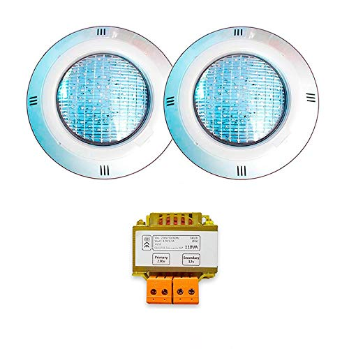 2 Focos LED RGB ON/OFF con transformador de seguridad