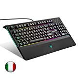 Tastiera Meccanica Gaming Tronsmart TK09R Switches Blu [ Italiano layout] 105 Tasti Anti-Ghosting Tastiera Da Gioco Retroilluminata Regolabile-Nero
