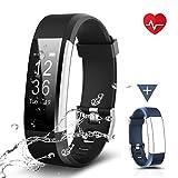 CHEREEKI Fitness Armband, Fitness Tracker Uhr mit Pulsmesser, Wasserdicht IP67 Aktivitätstracker...