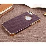 Burgund Violett Honeycomb Grain Design Handytasche Schutzhülle Harte Langlebig Cover Schutzhülle für Apple iPhone 44S