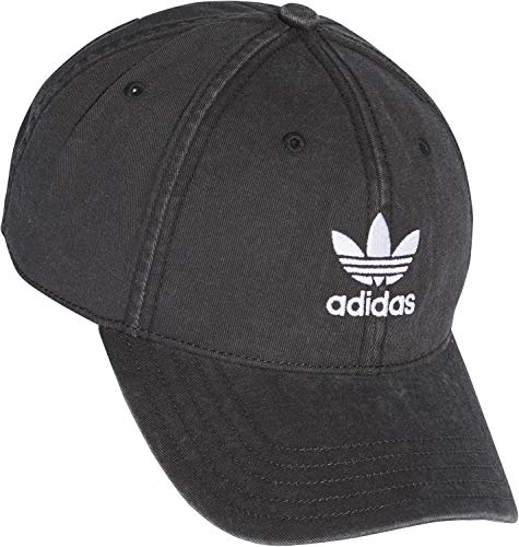 adidas Damen Adicolor Washed Baseball-Cap, schwarz/weiß, FR Unique (Taille Fabricant : OSFW)