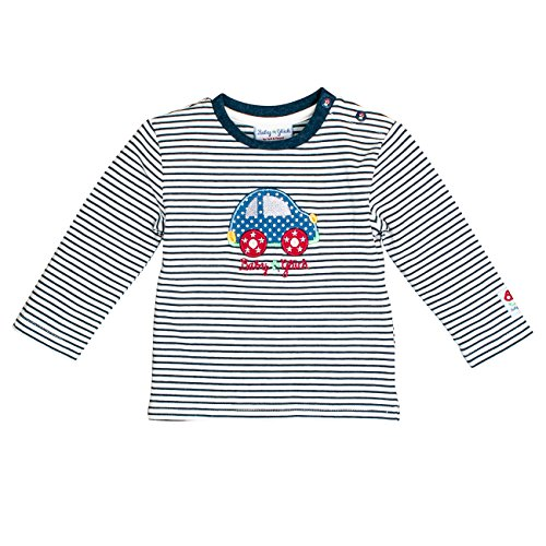 SALT AND PEPPER Baby-Jungen BG Longsleeve Stripe Auto OCS Langarmshirt, Blau (Indigo Blue Melange 461), 62 - Blaue Streifen-blues Shirt