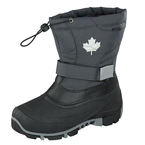 Indigo Canadians Hiver Bottes 467-185 Doublé en Gris Foncé
