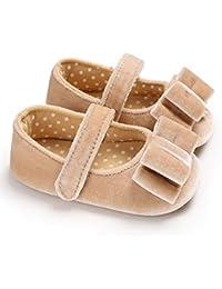 Zapatos de niños, Calzados/Zapatillas/Sandalias de niños Baby Girl Princess Bowknot Shoes Lindo bebé Prewalker cumpleaños Festival de Regalo