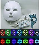 Elitzia Máscara de terapia estimulante con luz de LED, rejuvenecimiento facial, ideal para el cuidado de la piel, 7colores