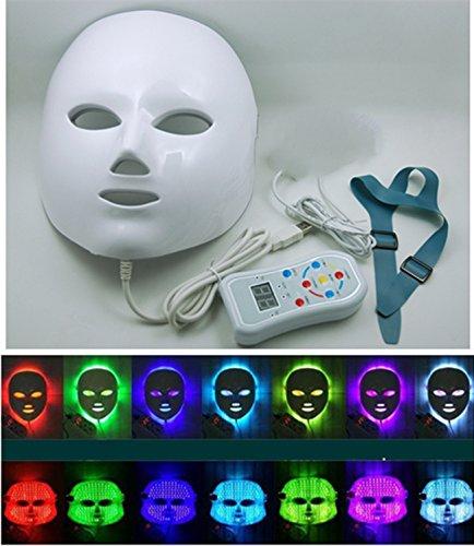 Elitzia 7Colors Light Therapy Stimulant Rajeunissement Soins du visage Masque LED