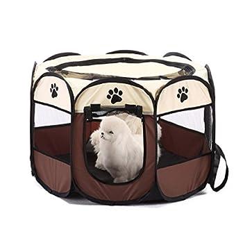 Syston Pet Parc Cage Chien Crate Parc Tentes de Chat Pliable Maison de Chiot Étanche Chien Clôture Chenil pour Petit Moyen Grand Chiens